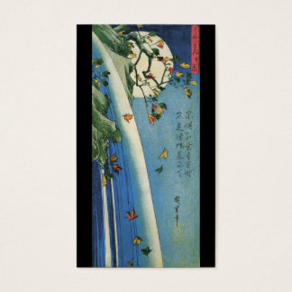 The Moon over a Waterfall circa 1800's. Japan. Business Card