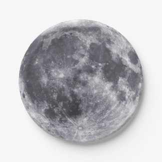 The Moon Paper Plate