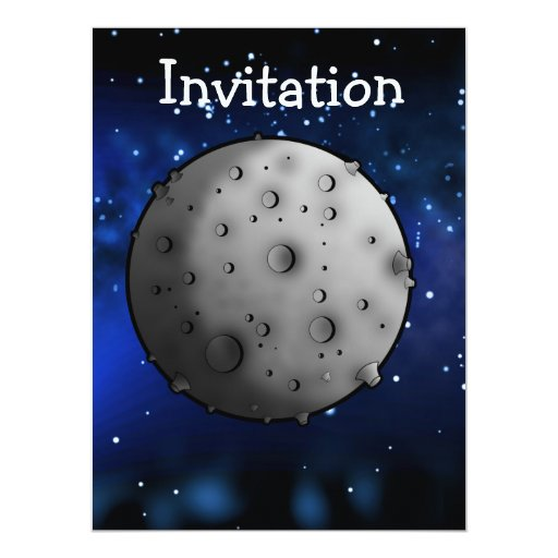 The Moon Personalized Invitations
