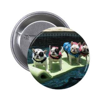 The Moon Pieds Pool Float 2 Inch Round Button