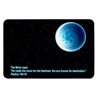 The Moon Rectangular Magnets