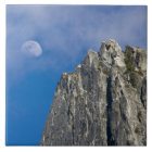 The moon rises and shines through the clouds ceramic tile