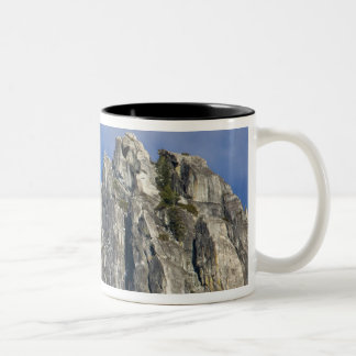 The moon rises and shines through the clouds Two-Tone coffee mug