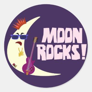 The Moon Rocks Cartoon Classic Round Sticker