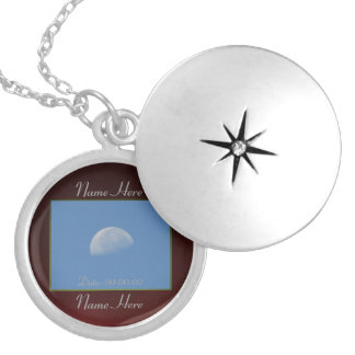 The Moon Round Locket Necklace