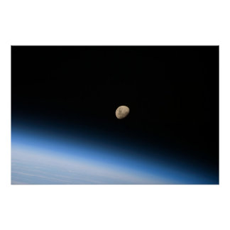 The Moon (STS-128) Poster