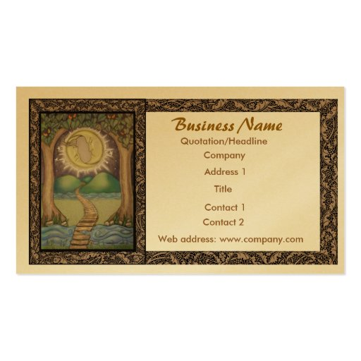 The moon tarot business card zazzle for Tarot business cards