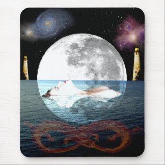 The Moon Tarot Card Art Mouse Pad