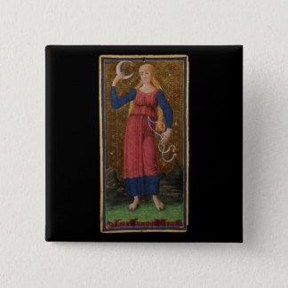 The Moon Tarot Card Button