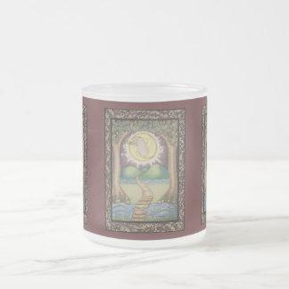 The Moon Tarot Card Frosted Glass Coffee Mug