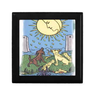 The Moon Tarot Card Howling Dogs Fortune Teller Gift Box