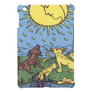 The Moon Tarot Card Howling Dogs Fortune Teller iPad Mini Cover
