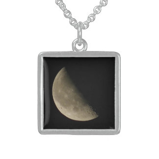 The Moon - the Moon Square Pendant Necklace