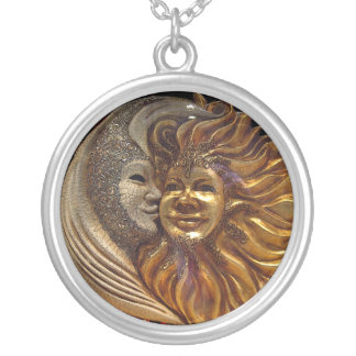 The Moon, The Sun, The Kiss Silver Plated Necklace