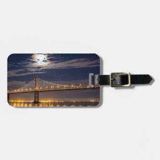 The moonrise tonight over the Bay Bridge Bag Tag