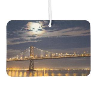 The moonrise tonight over the Bay Bridge Car Air Freshener