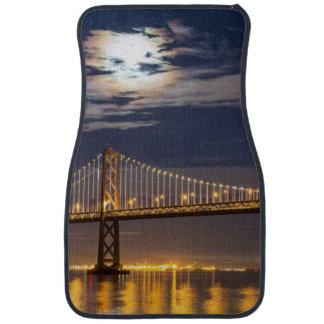 The moonrise tonight over the Bay Bridge Car Mat