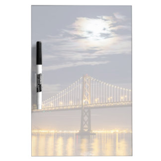 The moonrise tonight over the Bay Bridge Dry Erase Board