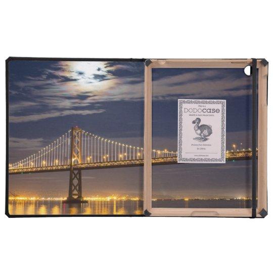 The moonrise tonight over the Bay Bridge iPad Cases