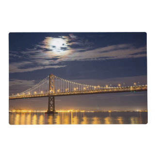 The moonrise tonight over the Bay Bridge Placemat