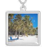 The Moorings Resort, Marathon, Key West, 3 Square Pendant Necklace