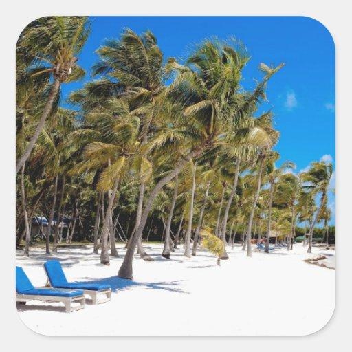 The Moorings Resort, Marathon, Key West, 3 Square Sticker