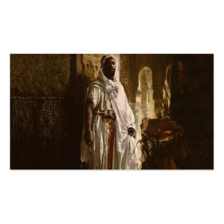 The Moorish Chief African Art Business Cards
