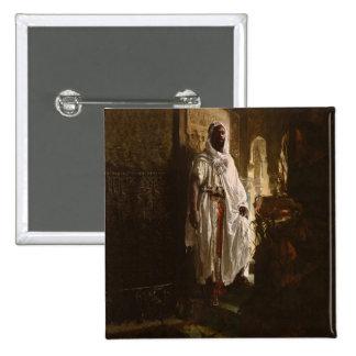 The Moorish Chief African Art Button