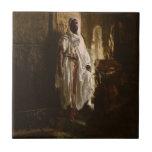 The Moorish Chief African Art Ceramic Tile