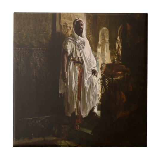The Moorish Chief African Art Ceramic Tile