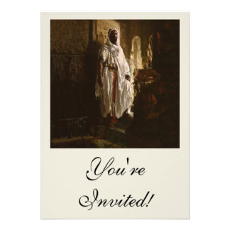 The Moorish Chief African Art Personalized Invitations