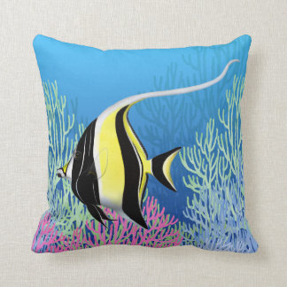 The Moorish Idol Reef Fish American MoJo Pillows