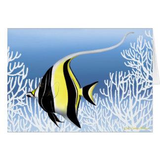 The Moorish Idol Reef Fish Card