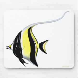 The Moorish Idol Reef Fish Mousepad
