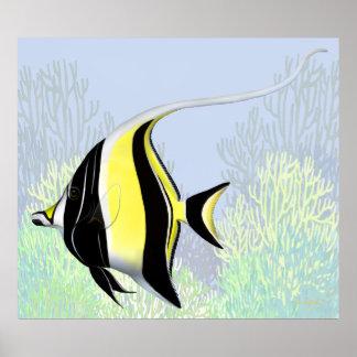 The Moorish Idol Reef Fish Poster