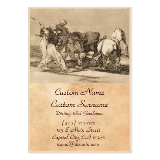 The moors fighting the bull with lances José Goy Business Card Templates