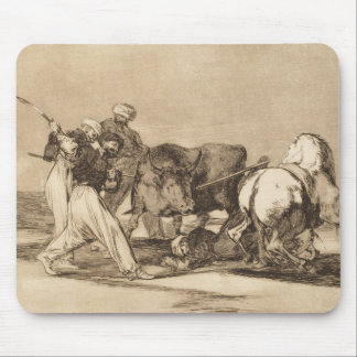 The moors fighting the bull with lances José Goy Mouse Pad