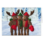 The Moose Brothers: Christmas Carol Greeting Card