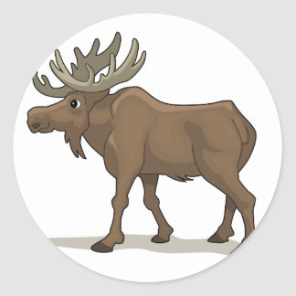 The Moose Classic Round Sticker
