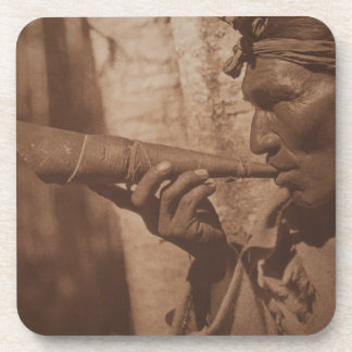 The Moose Hunter - Cree. 1926 Beverage Coaster