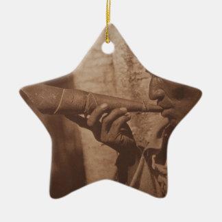 The Moose Hunter - Cree. 1926 Ceramic Ornament