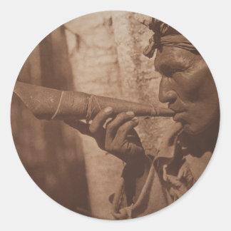 The Moose Hunter - Cree. 1926 Classic Round Sticker