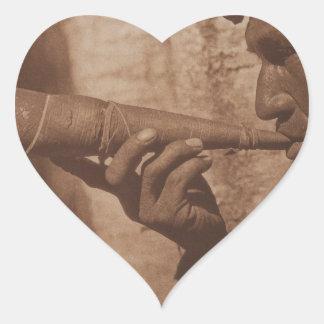 The Moose Hunter - Cree. 1926 Heart Sticker