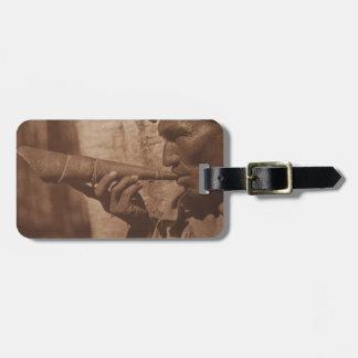 The Moose Hunter - Cree. 1926 Luggage Tag