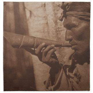 The Moose Hunter - Cree. 1926 Napkin
