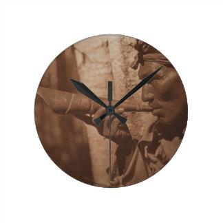 The Moose Hunter - Cree. 1926 Round Clock