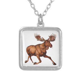 THE MOOSE IS LOOSE SQUARE PENDANT NECKLACE