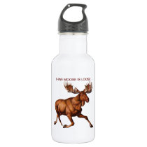 THE MOOSE IS LOOSE WATER BOTTLE