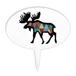 THE MOOSE STRONG CAKE TOPPER
