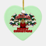 The Moosenger Merry Christmas Ornaments